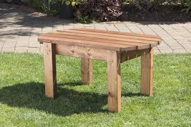 Handmade Wooden Outdoor Furniture by Uk Handmade Fully Assembled Heavy Duty Wooden Garden Coffee Side