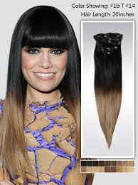 remy clip in hair extensions 20 two colors ombre indian remy clip in hair extension uso920 8