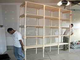 Garage Shelves Diy by How To Build Garage Shelving Diy Shelving Ideas With Photos