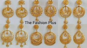 gold earrings design with weight gold chandbali earrings designs with weight and price