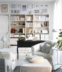 contemporary living room in bright white interior style living