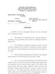 legal demand letter template for collection of sum of money lawsuit pleading