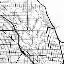 Bucktown Chicago Map by Chicago City Lines Map Print U2014 Turn Of The Centuries