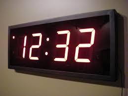 compact electronic wall clock 143 digital wall clock amazon in