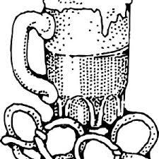 beer pretzels coloring pages place color