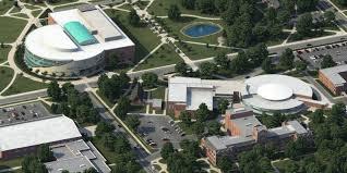Unf Campus Map Photo Realistic Map Artwork Central Michigan University