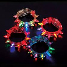 light up led spike bracelets 2 dozen 24