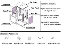 15u server rack cabinet glass door 15u wall mount cabinet enclosure it server data rack