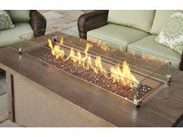 outdoor greatroom fire table ogr pine ridge 1242 linear fire pit table burner options