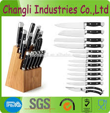 14 pcs stainless steel german style forged kitchen knife set with