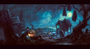 spoopy halloween background beautiful digital paintings by revande on deviantart