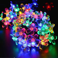 led garland christmas lights 8m 80 led flower cherry blossom rgb christmas lights indoor holiday