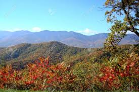 fall foliage beautiful mountains overlook