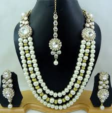 bridal earring necklace sets images Indian pearl necklace designs 2017 jpg