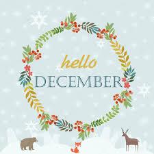 imagenes hola diciembre hola tarjeta de diciembre vector de stock miobuono12 89116348