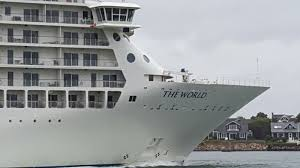 world u0027s largest residential cruise ship sails through cape cod canal