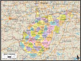 Virginia Map With Cities And Towns by Map Of Virginia And West Virginia With Cities Virginia Map