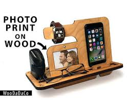 Office Desk Gift Ideas Gift From Daughterwooden Phone Standdesk Gift For Him30th