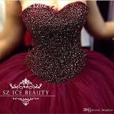 burgundy quince dresses luxury heavy beading burgundy quinceanera dresses gown