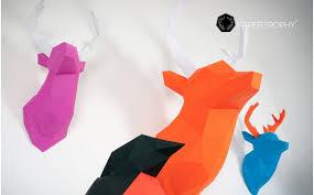 origami chambre bébé trophée mural origami de cerf pour la décoration de chambre