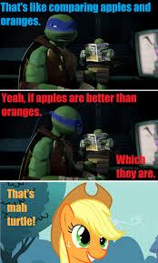 Tmnt Meme - 184664 applejack leonardo meme raphael safe teenage mutant
