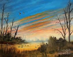 evening duck hunt by bill holkham hunting artduck