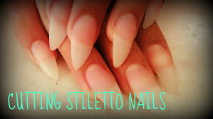 how to cut stiletto nails tutorial youtube