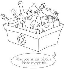 recycling coloring pages coloringpagesonly com