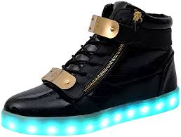 led light up shoes for adults amazon com poppin kicks unisex adults supreme led light up shoes