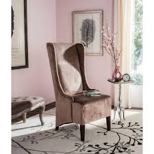 safavieh bacall dark champagne cotton dining chair mcr4501a the