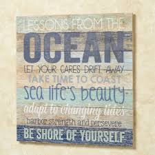 oceans wisdom wood wall plaque