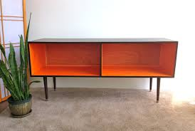 Media Console Tables by Mid Century Modern Record Player Cabinet Media Table Tv Stand