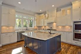 two tone kitchen cabinets and island with your kitchen how to choose a different color