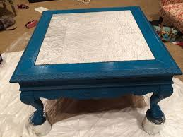 chalk paint coffee table tuesday treasures coffee table makeover with aluminum foil