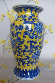 Hand Painted Chinese Vase Tall 11