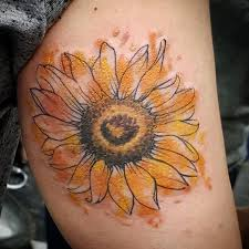 best 25 watercolor sunflower tattoo ideas on pinterest