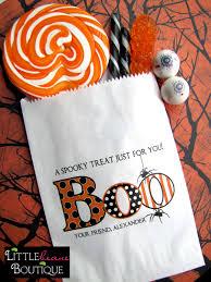 Halloween Boo Bag Poem Halloween Favor Bags Boo Hallowwen Candy Bags Halloween