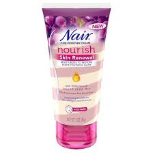 nair skin renewal grape seed oil hair removal cream for face