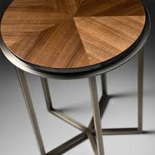 High Side Table High End Italian Walnut Veneered Side Table Juliettes Interiors