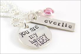name necklace personalized jewelry images Custom silver mom necklace you are my happy place sterling jpg