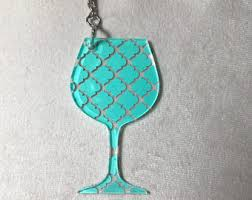 wine glass keychain wine glass keychain etsy