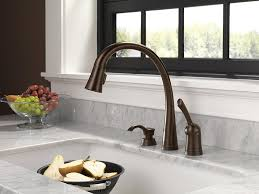 kitchen faucets touch technology delta 980t rbsd dst pilar single handle pull kitchen faucet