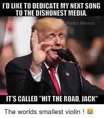 Violin Meme - d like to dedicate my nekt song to the dishonest media andy s memes