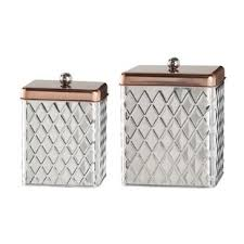 silver kitchen canisters hammered copper canister set wayfair