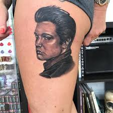 23 elvis presley tattoos that prove the king is alive