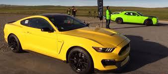 Dodge Challenger Orange - dodge challenger hellcat vs mustang shelby gt350 is an apple to