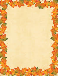 fall thanksgiving and desktop stationery sheets from