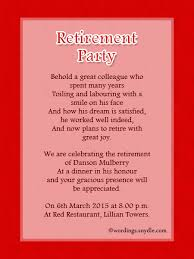 Retirement Invitation Wording Invitation Card Wordings For Retirement Party Wedding Invitation