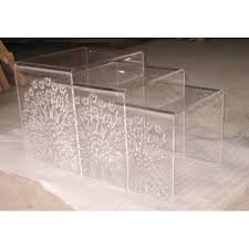 cb2 acrylic nesting tables new acrylic nesting tables within 3 piece peekaboo table set cb2
