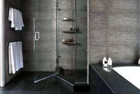 fine modern showers with onyx stone floor and bathtub decorating